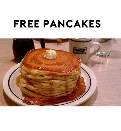 TODAY! FREE Stack Of IHOP Buttermilk Pancakes On National Pancake Day 2/27
