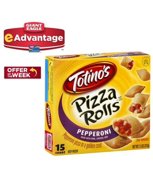 FREE Totino's Pizza Rolls at Giant Eagle (Advantage Card Required)