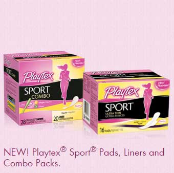 FREE Playtex Sport Tampon, Pads, Liners & Combo Packs