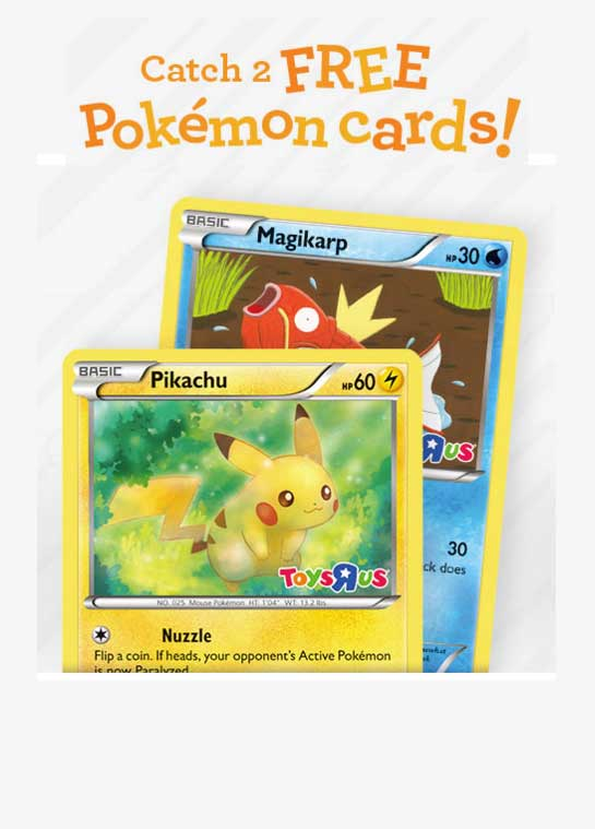 FREE 2 Pokemon Cards, Poster & Activity Book From Toys R Us On 2/27/16 (In Store Event)