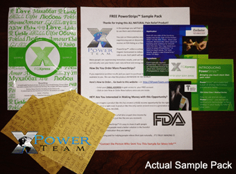 FREE FGXpress Pain Relief PowerStrips 3 Sample Pack (4 Question Survey Required)