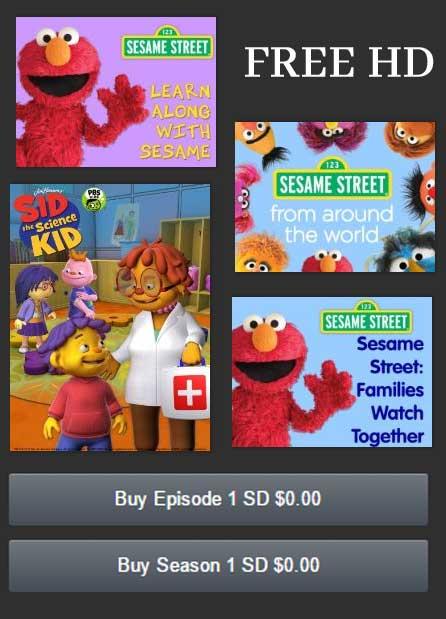 FREE Sesame Street Season Downloads On Amazon Video