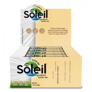 FREE Soleil Nutrition Bar- Choose From Vanilla Almond Cashew, Dark Chocolate Coconut Almond & 4 Other Flavors From HiHealth