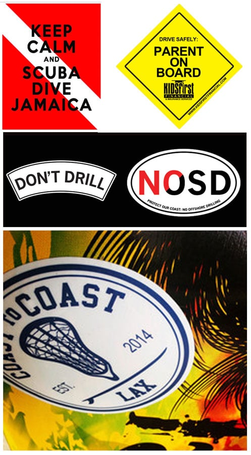 "FREE Stickers Today: ""Keep Calm and Scuba Dive Jamaica"", ""Parent On Board"" & ""No Offshore Drilling"" Stickers"