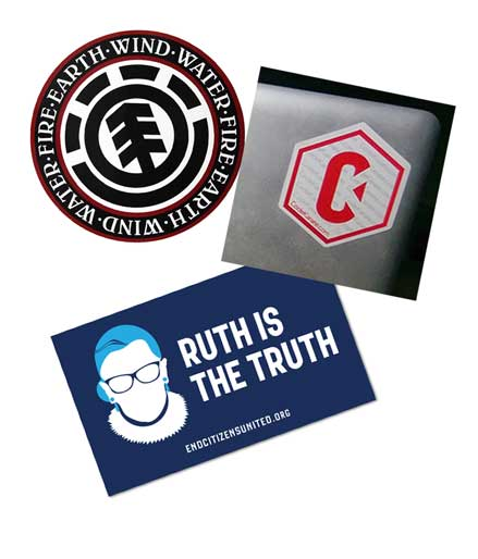 3 FREE Stickers Today: Ruth Is The Truth Sticker, Code Karate Sticker & Element Stickers