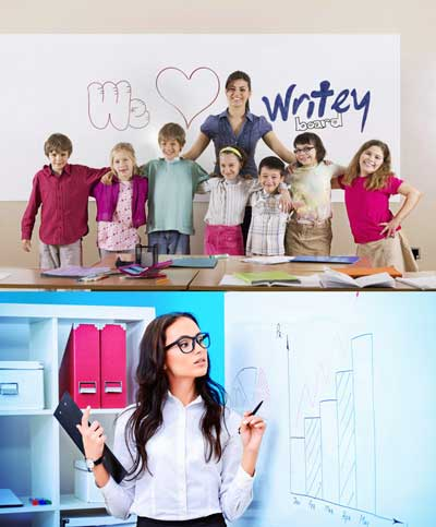 14 FREE WriteyBoard Samples Including Dry Erase Paint, Stick On Dry Erase Boards & More