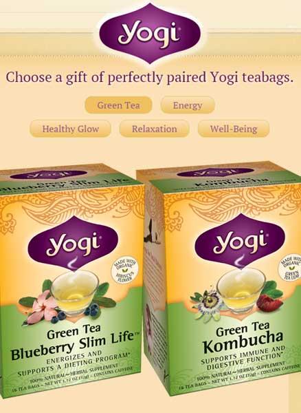2 FREE Yogi Tea Bags