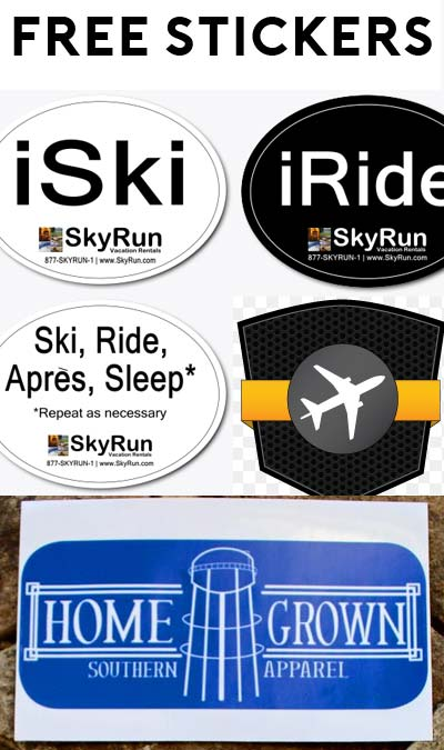 3 FREE Stickers Today: GoFlight Sticker, Homegrown Southern Apparel Sticker & SkyRun Snow Sports Stickers