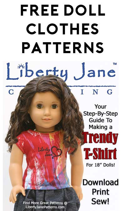 FREE 18″ Doll Clothes Patterns