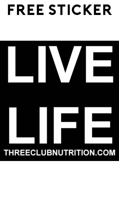 FREE Three Club Nutrition Sticker