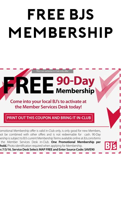 Bjs club membership coupon
