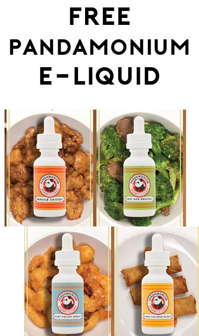 FREE Pandamonium Gourmet E-Liquid 15ml Sample