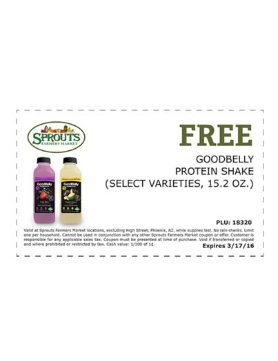 FREE Goodbelly Protein Shake From Sprouts Stores (Redeem In-Store)