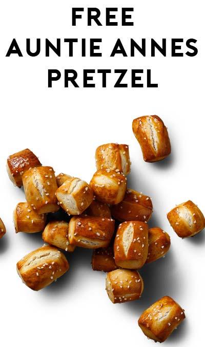 FREE Auntie Anne's Pretzel BOGO On April 26th-April 28th