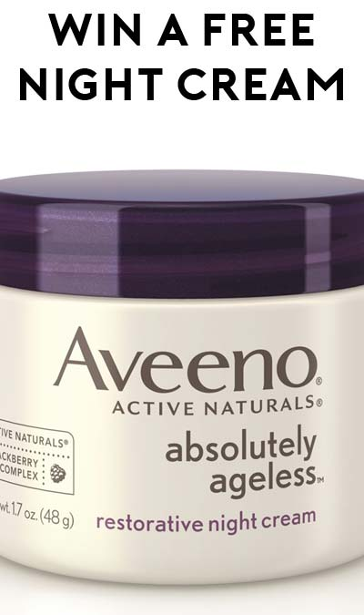 Win A FREE Aveeno Absolutely Ageless Restorative Night Cream From Beauty Undercover