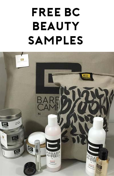 STILL ACTIVE: FREE Barbara Campbell NYC Beauty Product Samples
