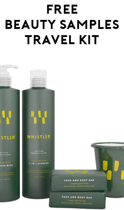 FREE Whistler Travel-Size Face+Body Bar, All Over Wash, Shampoo & Toiletries Kit