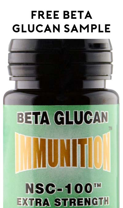 FREE Immunition NSC 100 Extra Strength Glucan Sample