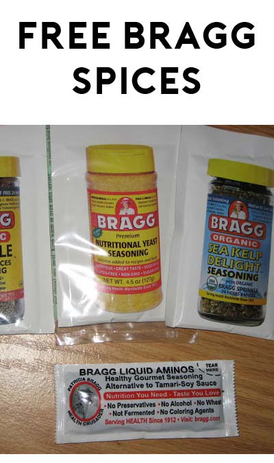 FREE Bragg Sprinkle, Sea Kelp Delight & Premium Yeast Samples [Verified Received By Mail]