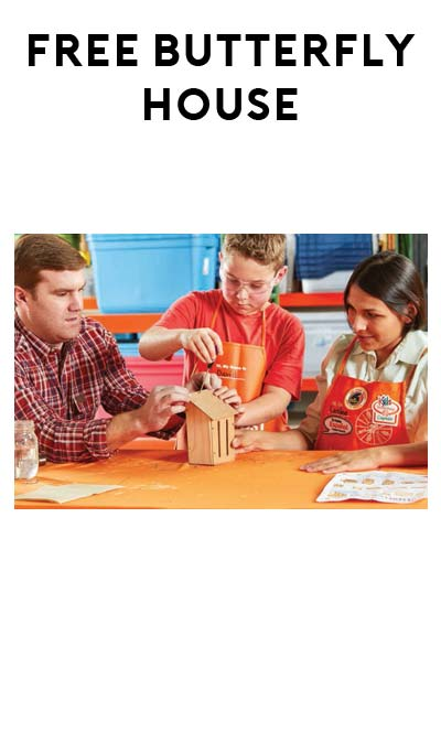 FREE Build A Butterfly House Workshop For Kids at Home Depot on April 2nd 2016
