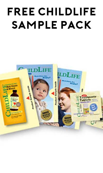 FREE Child Life Product Sample Pack [Verified Received By Mail]