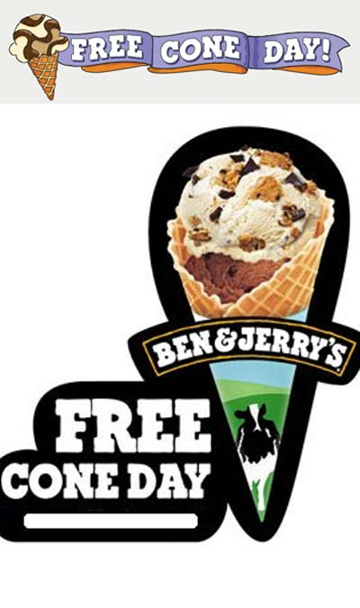 TODAY! FREE Ice Cream Cone Day At Ben & Jerry's On April 9th 2019