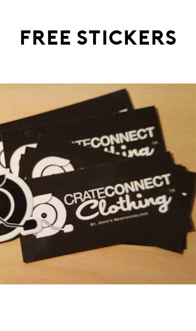 FREE Crate Connect Clothing Sticker Pack
