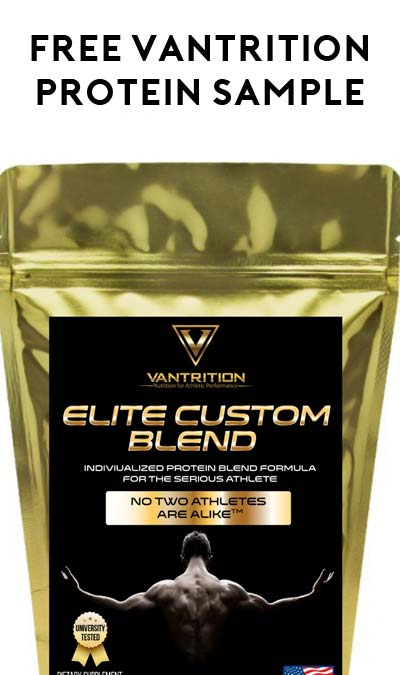 FREE Vantrition Protein Supplements Sample