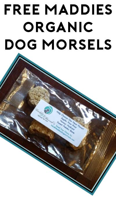 FREE Maddies Organic Dog Morsels Product Sample