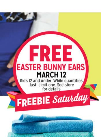 FREE Easter Bunny Ears For Kids March 12th At K-Mart