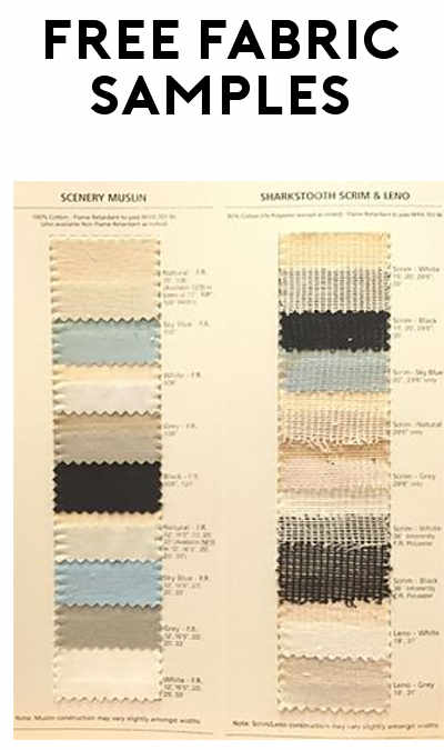 FREE Scrim Theatre Fabric Samples