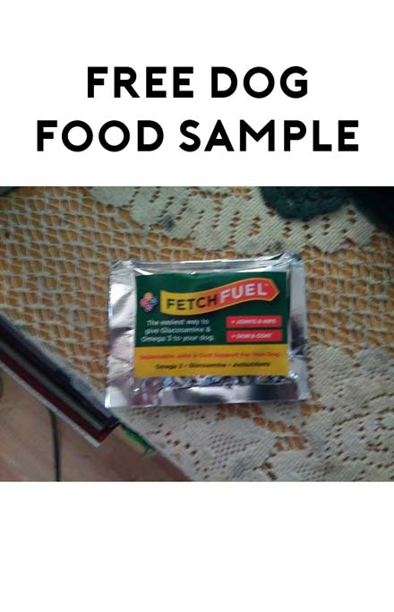 FREE FetchFuel Dog Food Fromulated For Joints & Skin