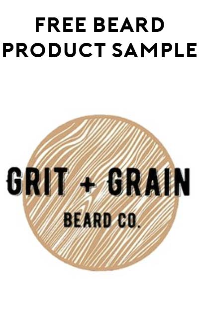 FREE Grit + Grain Beard Product Sample