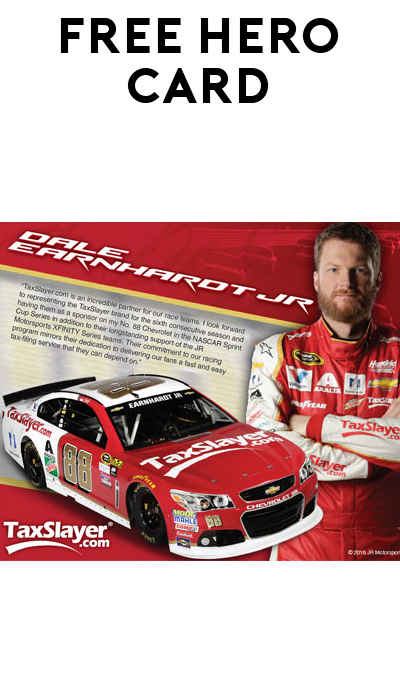 FREE 2016 TaxSlayer NASCAR Hero Card