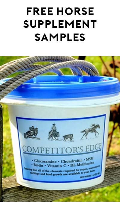 FREE Competitor's Edge Equine Supplement Samples - Yo! Free Samples