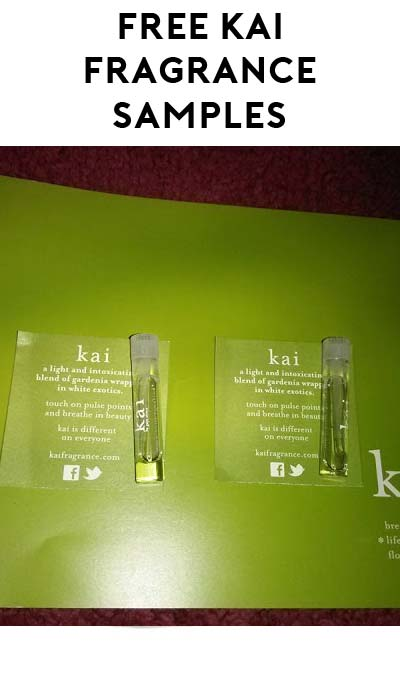 FREE Vegan Kai Fragrance Perfume Samples