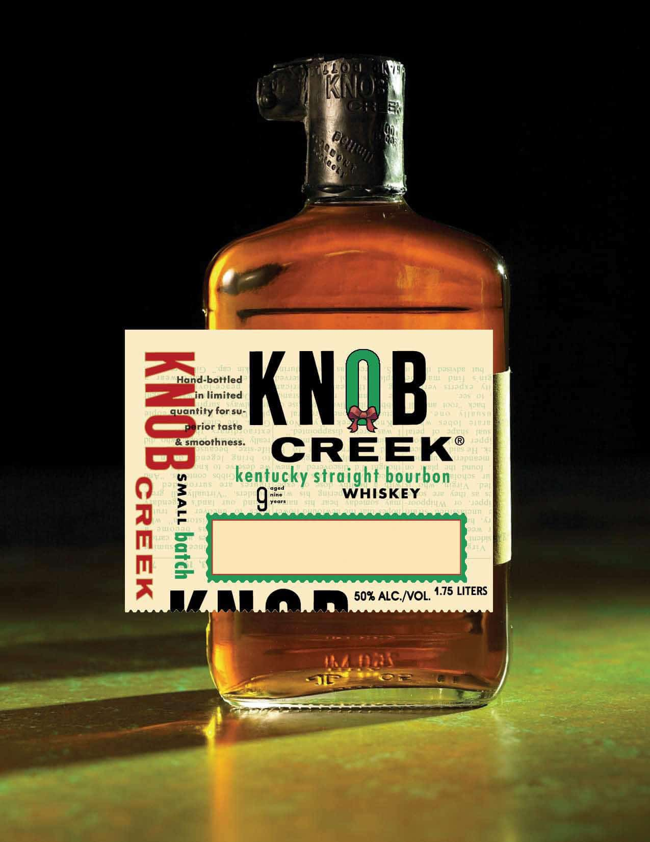 FREE Knob Creek Liquor Bottle Gift Personalized Labels
