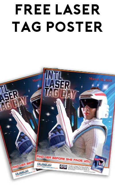 2 FREE International Laser Tag Day Posters (Laser Tag Facilities Only)