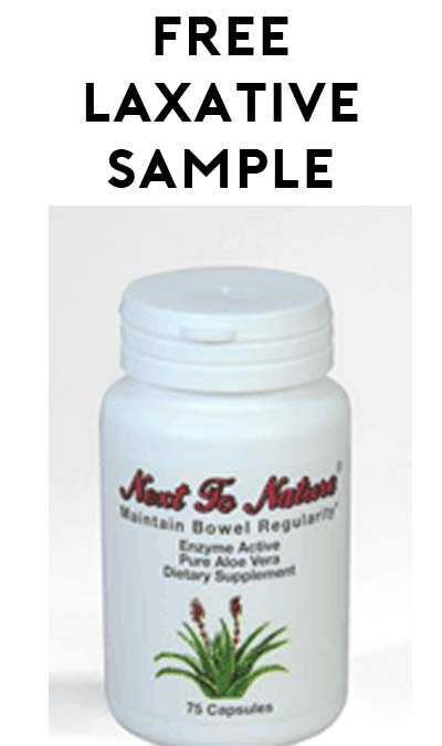 FREE Next to Nature Laxative Sample [Verified Received By Mail]