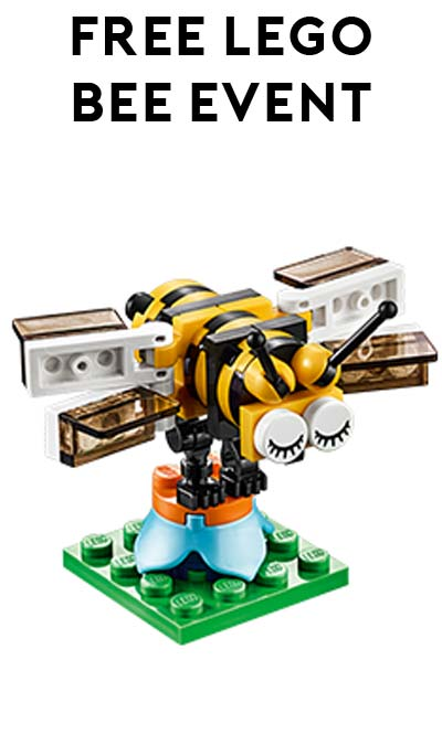 FREE LEGO Bee From Mini Model Build Event April 5th/6th