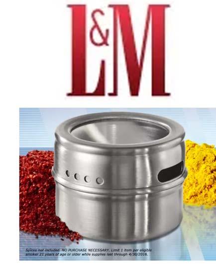 FREE L&M Metal Spice Tin