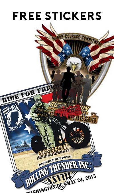 "FREE ""Thank You to All Who Have Served"" Or ""Rolling Thunder"" Sticker From Russ Brown"