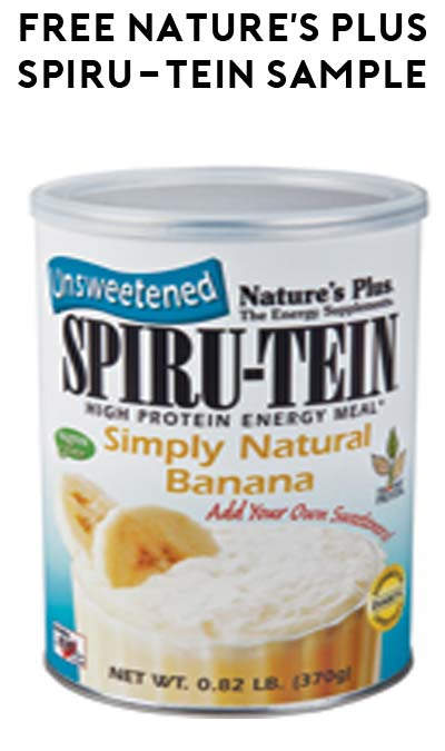 FREE Nature's Plus SPIRU-TEIN Energy Sample