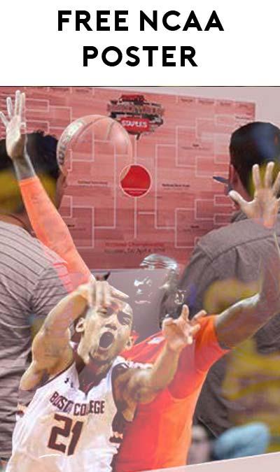FREE NCAA Men's Basketball Bracket Poster At Staples