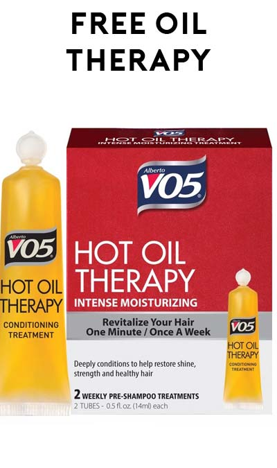 Win FREE Retail-Size V05 Hot Oil Therapy Samples