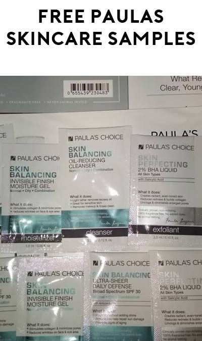 FREE Paula's Choice Skincare Samples (Review Required)