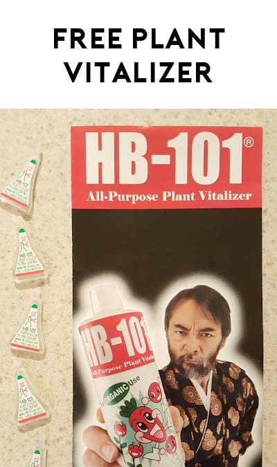 FREE HB-101 Plant Vitalizer [Verified Received By Mail]