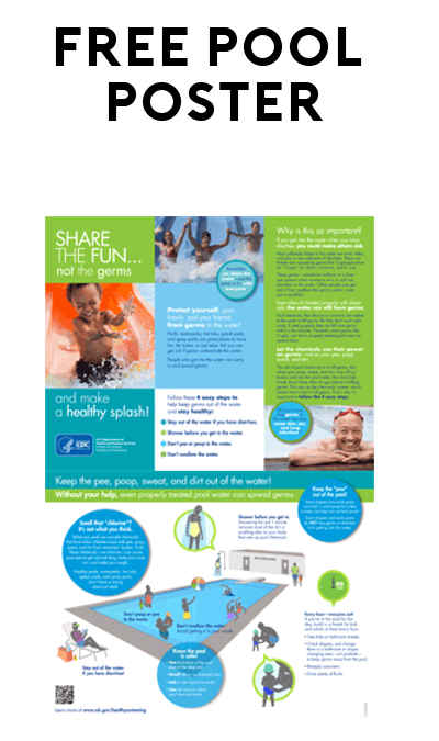 FREE Pool Chemical Safety Poster from American Chemistry/CDC.gov
