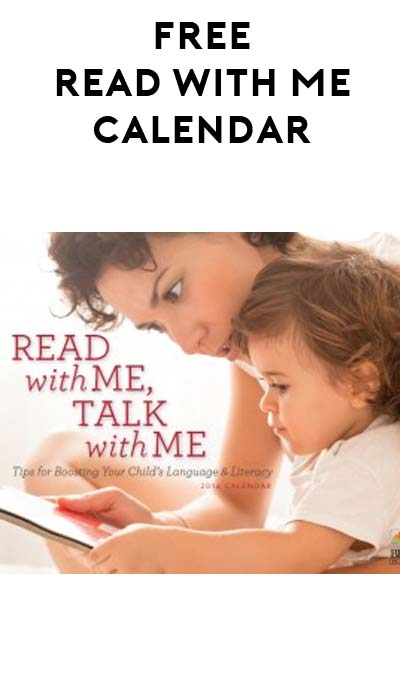 FREE Read With Me, Talk With Me Calendar