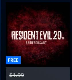 FREE Resident Evil 20th Anniversary PS4 Theme